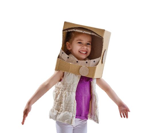 Fun kid wearing an astronaut hat