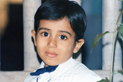 Picture of Dr. Mukul Dave as a little kid