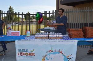 Pizza Party at Local School | Smile Explorers Pediatric Dentist in Glendale