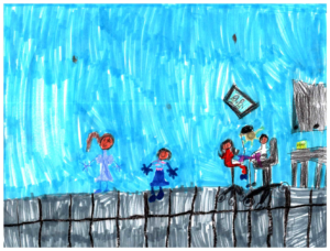 child's drawing for smile explorers