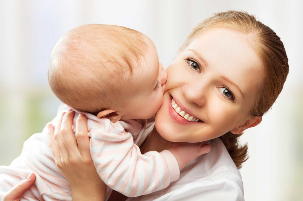 women with baby